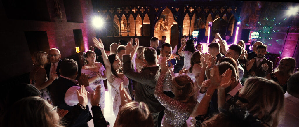 Peckforton Castle wedding evening reception
