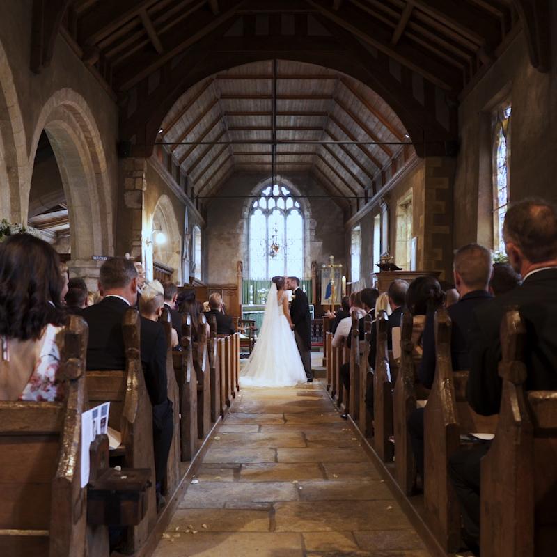 Yorkshire Wedding Videographer Church